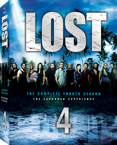 lost wallpaper containing anime called lost season 4 DVD box set cover