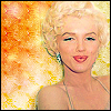 Actresses photo probably with a portrait and anime called Marylin Monroe