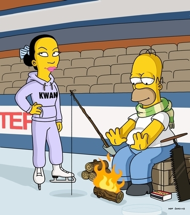 Michelle Kwan and Simpsons