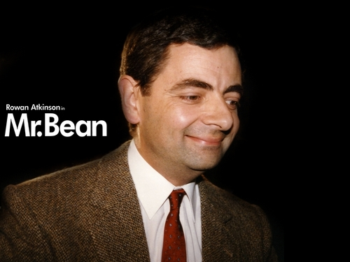 Mr. kacang kertas dinding containing a business suit and a suit entitled Mr.Bean