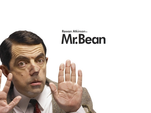 Mr. kacang kertas dinding called Mr.Bean
