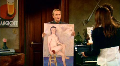 How I Met Your Mother wallpaper possibly containing a lectern, a drawing room, and a sign called Nude Art