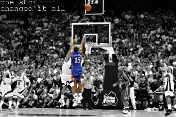 One Shot KU Basketball Photo