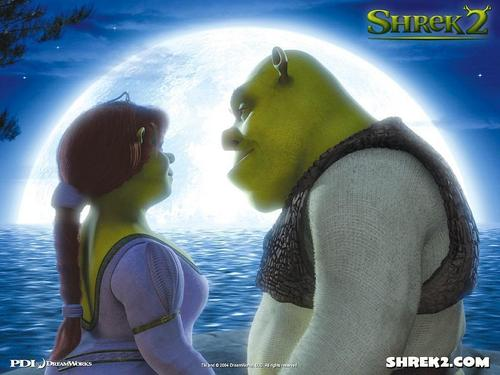 Princess Fiona and her husband Shrek