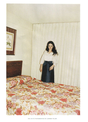 Marc Jacobs wallpaper probably containing a bedroom, a twin bed, and a hotel room titled SS 2006 Ads with Meg White