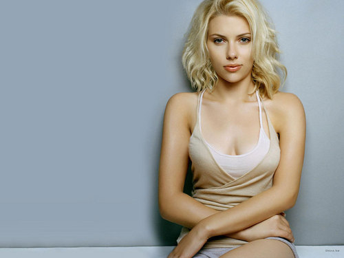 Scarlett Johansson wallpaper possibly containing a maillot, a bustier, and a leotard titled Scarlett