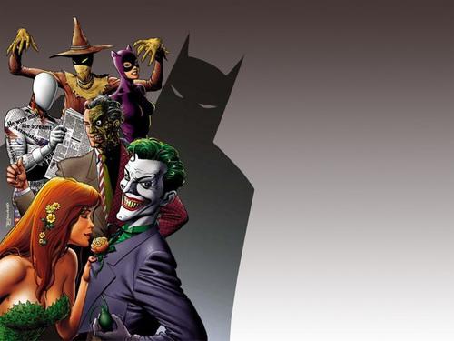 Batman Villains kertas dinding titled Villains