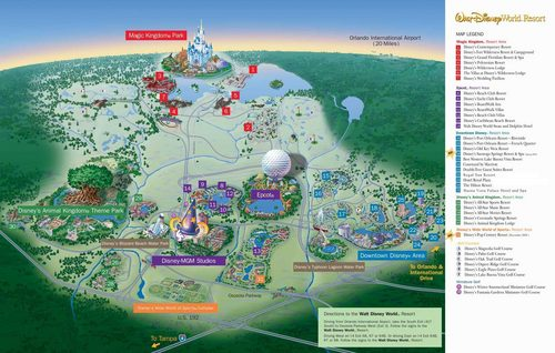 Walt Disney World wallpaper possibly with anime titled WDW Map