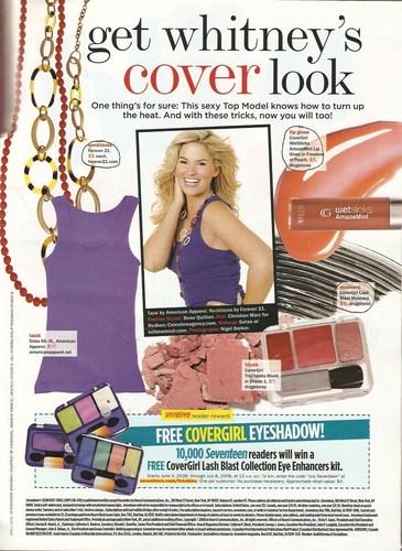 Whitney in Seventeen Magazine