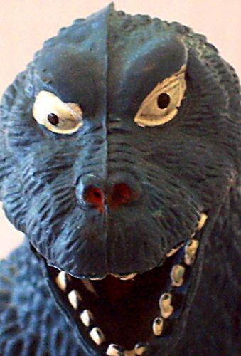 blue godzilla toy