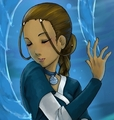 my drawings of Katara, waterbending mostly!