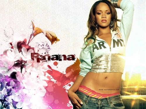 Rihanna wallpaper possibly containing a bouquet, a top, and a playsuit called rihanna