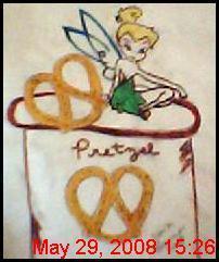 tinkerbell on pretzel jar