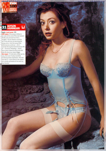 Alyson Hannigan wallpaper possibly with a bikini called Alyson magazine scans