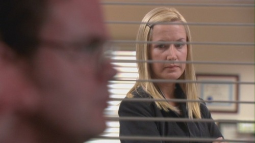 Angela Disappointed in Dwight in The Coup