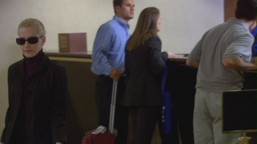 Angela sneaks to Dwight's hotel room in The Convention