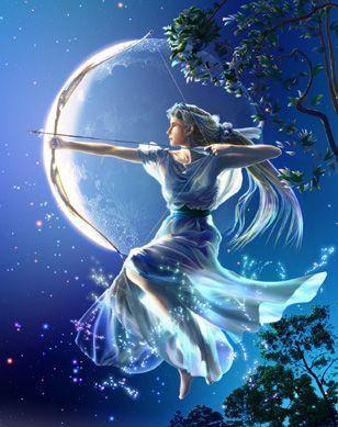 Griechische Mythologie Hintergrund called Artemis
