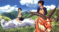 Ashitaka and San, at the end of the movie - princess-mononoke photo