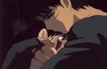 Ashitaka and San hug