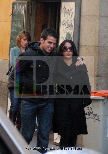 Cesc & Carla 18-11-2007 in Madrid
