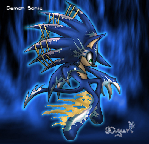 Sonic X wallpaper titled Demon Sonic