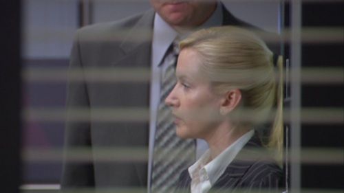 Dwight tells Angela to freeze his head is cut off in Grief Counseling