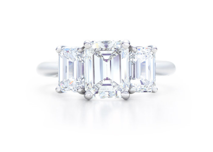 Tiffany Amp Co Images Emerald Cut Three Stone Wallpaper And