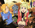 Edward and Winry - edward-elric-and-winry-rockbell wallpaper