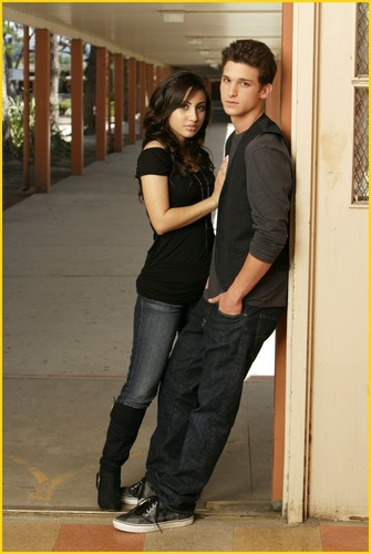 The Secret Life of the American Teenager wallpaper possibly containing a street, a business suit, and a pantleg titled Francia Raisa & Daren Kagasoff