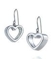 Geometric heart earrings