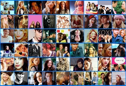 Gossip Girl iconen collage