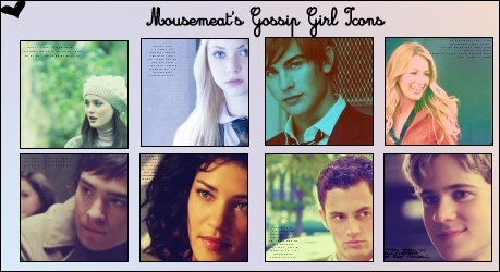 Gossip Girl icons collage