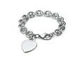 Heart tag charm bracelet