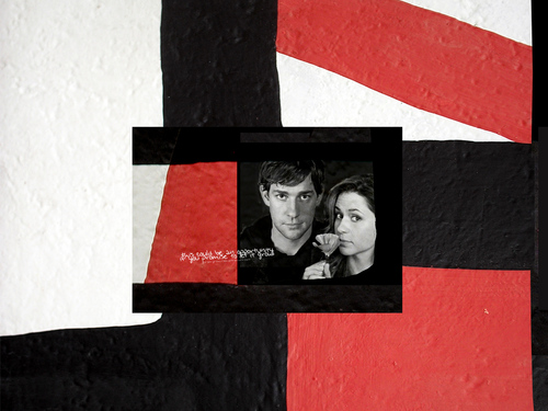 John & Jenna - the-office Wallpaper
