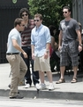 Kevin Connolly & The Cast of Entourage Film at Urth Caffe 06-16-08