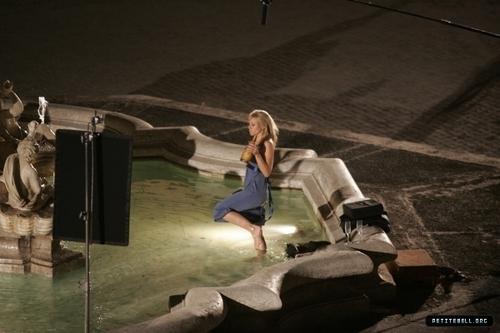 Kristen B. On the Set