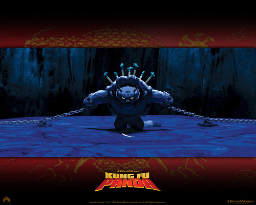 Kung Fu Panda wallpaper possibly with a fountain and a sign titled Tai Lung