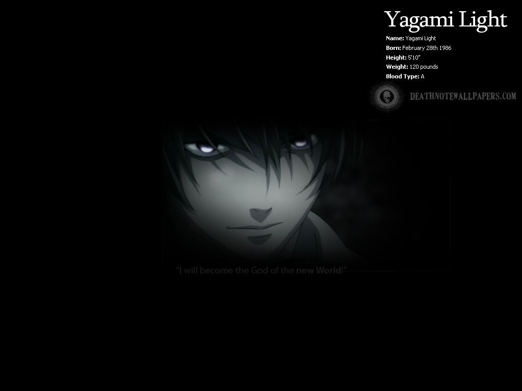 Light Perfil Fondo De Pantalla Light Yagami Fondo De