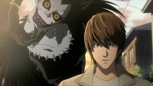 Light Yagami wallpaper with anime titled Light and Ryuk
