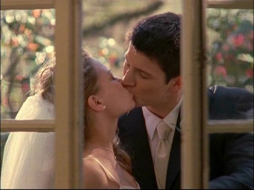 Famous Kisses wallpaper possibly with a business suit titled Naley Always & Forever