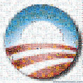 Obamosaic - A Mosaic of Obama T-shirts - barack-obama fan art