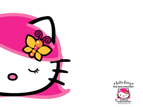 Pink Head - hello-kitty Wallpaper