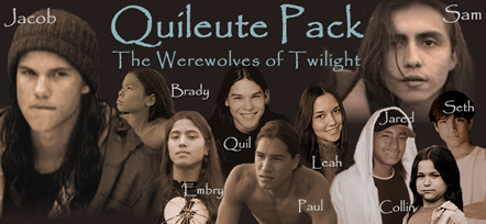 Twilight-Serie Hintergrund possibly containing a portrait titled Quileute Pack