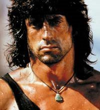 Sylvester Stallone wallpaper probably with attractiveness and a portrait titled Rambo