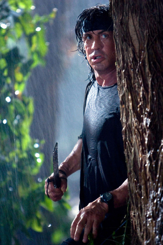 Sylvester Stallone wallpaper possibly containing a machete and a sign titled Rambo