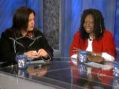 Rosie O'Donnell and Whoopi Goldberg on The View