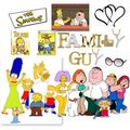 Simpsons Family Guy Collage - the-simpsons-vs-family-guy fan art