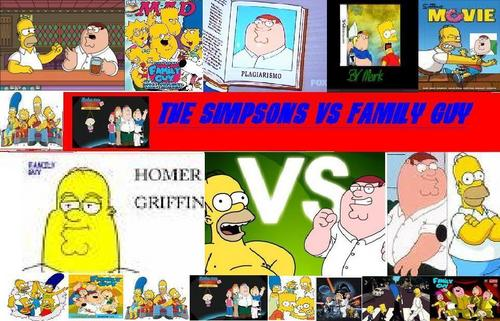 The Simpsons Vs Family Guy দেওয়ালপত্র possibly with জীবন্ত called Simpsons Family Guy Collage