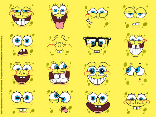 Spongebob Squarepants پیپر وال probably containing a sign and عملی حکمت called Spongebob