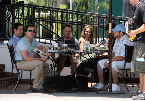 The Cast of Entourage Film outside Urth Caffe in Hollywood 06.16.08